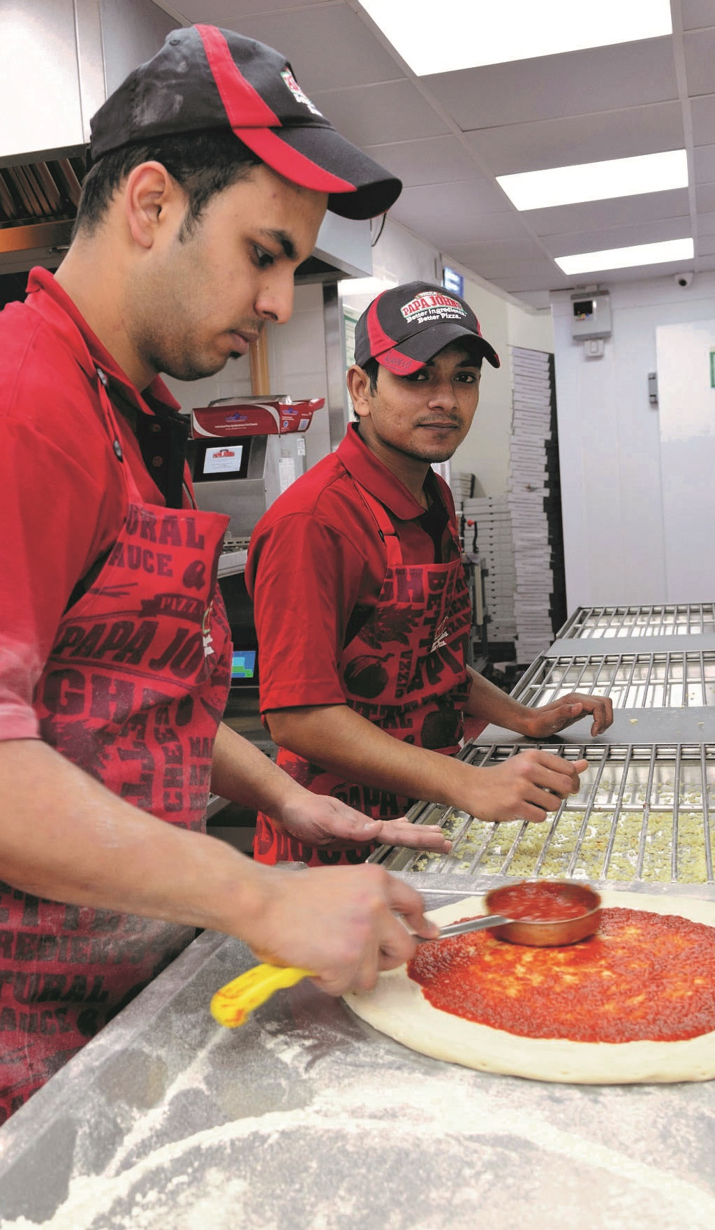 Papa John's Puts Pizza on the Menu in Putney